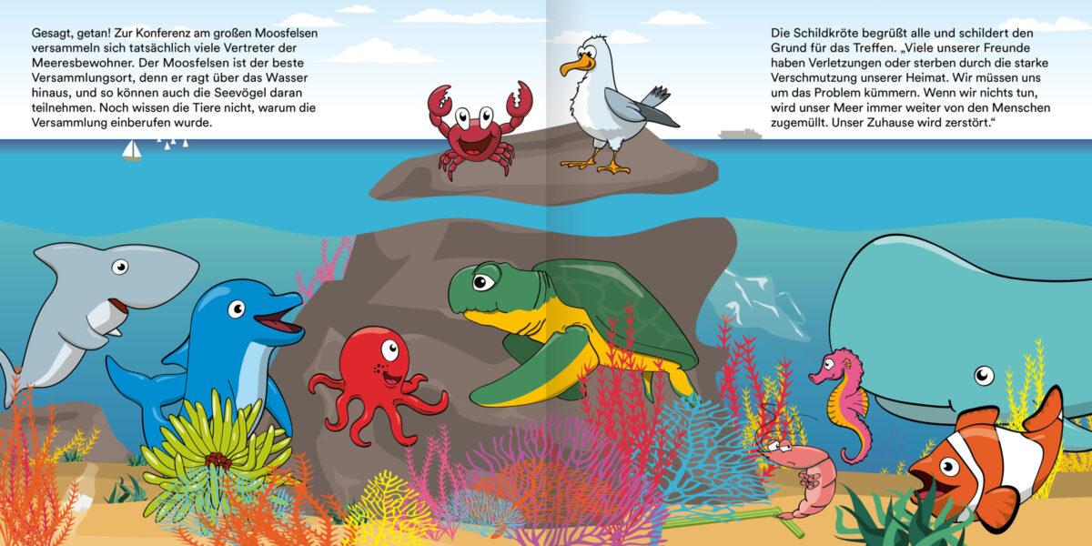 Die Krake Toni und das Rätsel um den Müll im Meer (6-12 Jahre)