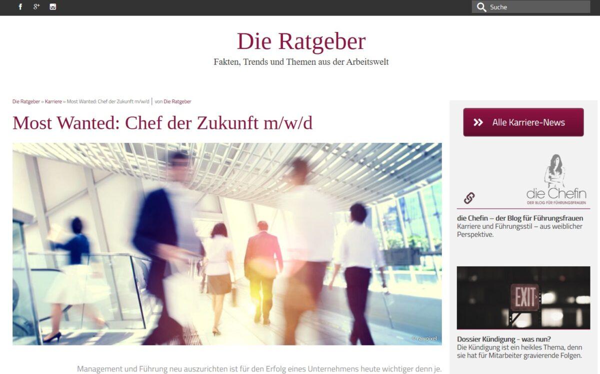 Most Wanted: Chef der Zukunft m/w/d Rezension
