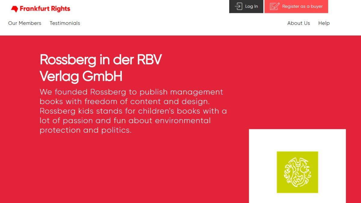 Rossberg in der RBV Verlag GmbH Frankfurter Buchmesse 2020